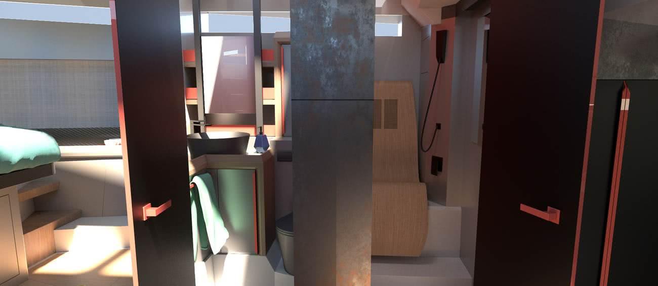 Phoenix Open Fly Yacht Interior