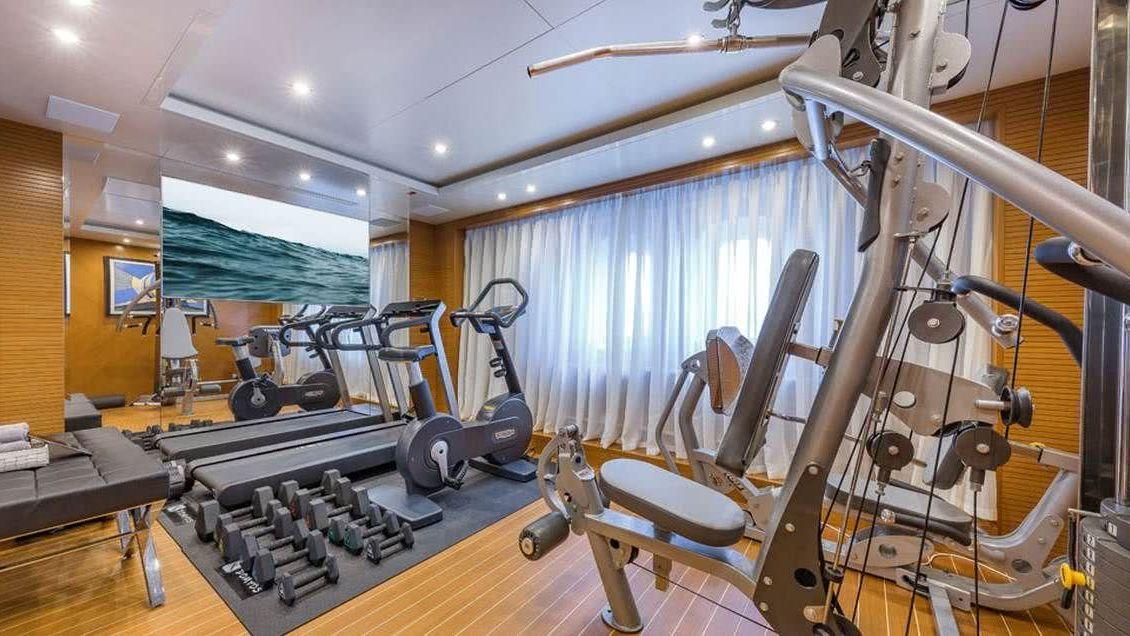 Specture Yacht gym Interior