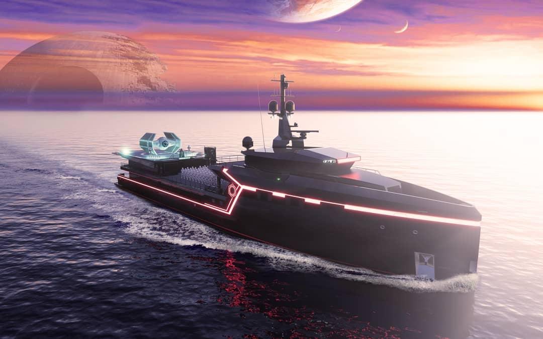75m Damen Yacht Support Star Wars