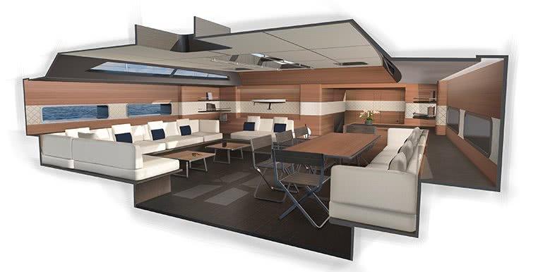Wally 101 Interior Sailing Yacht