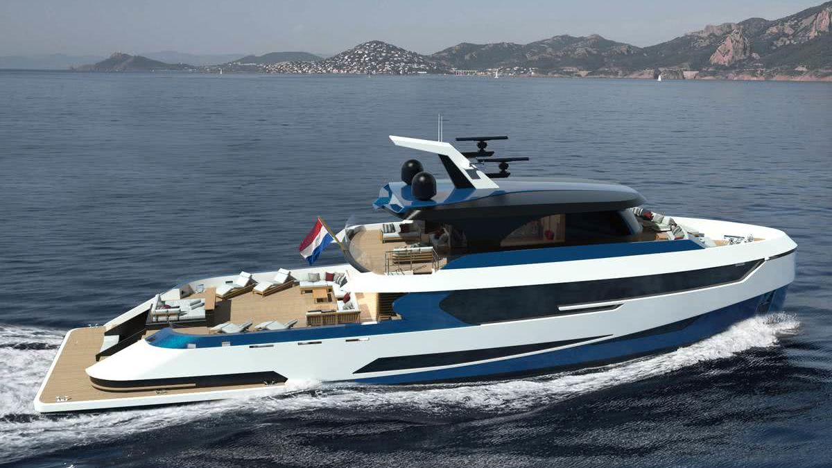 Hydrogen Yacht Blue Angel Diana Yacht Design
