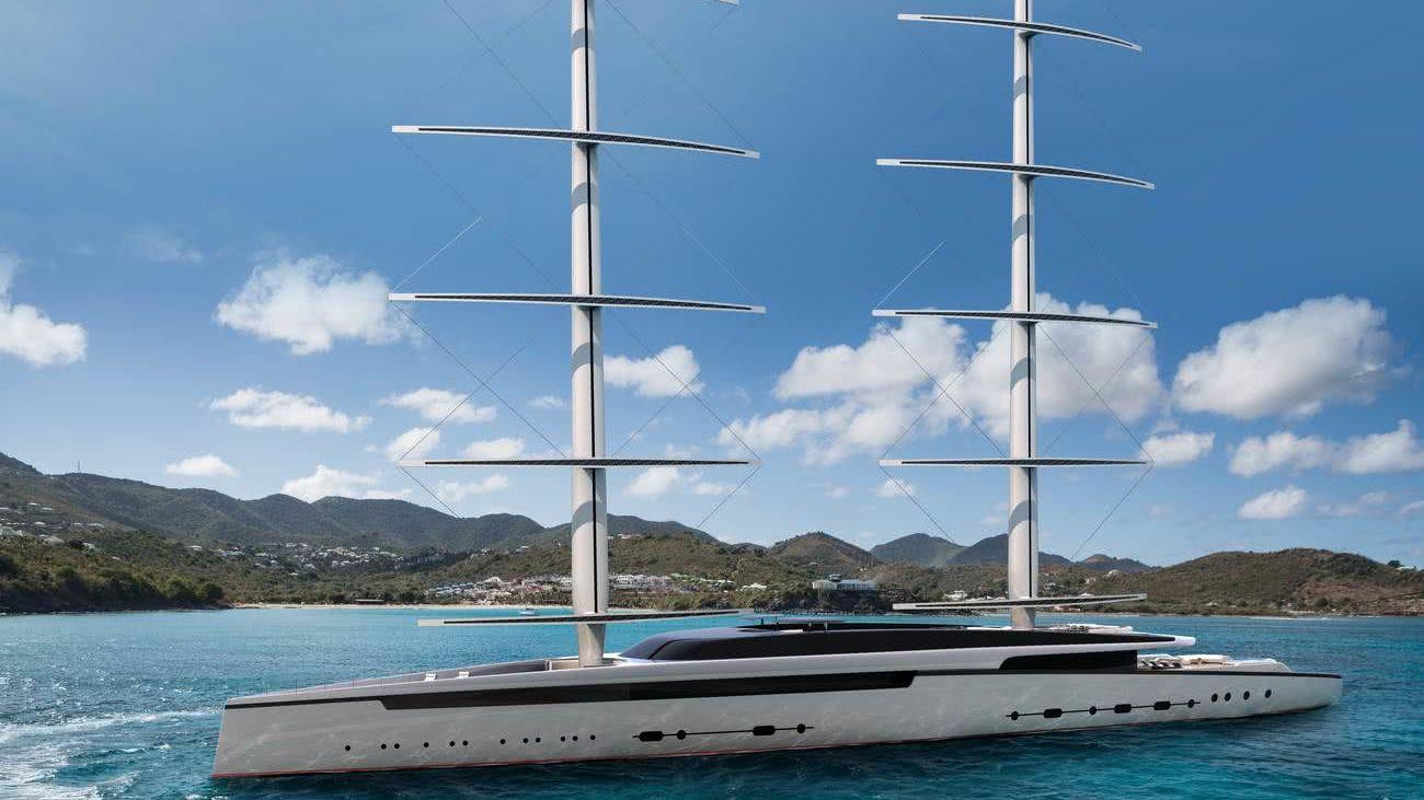 Lotus Royal Huisman DynaRig Sailing Yacht