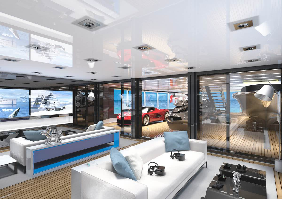 80m Hybrid Explorer Yacht Gill Schmid Design Interior