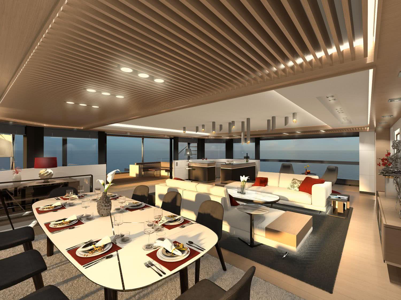 Royal Huisman Sailing Catamaran Interior