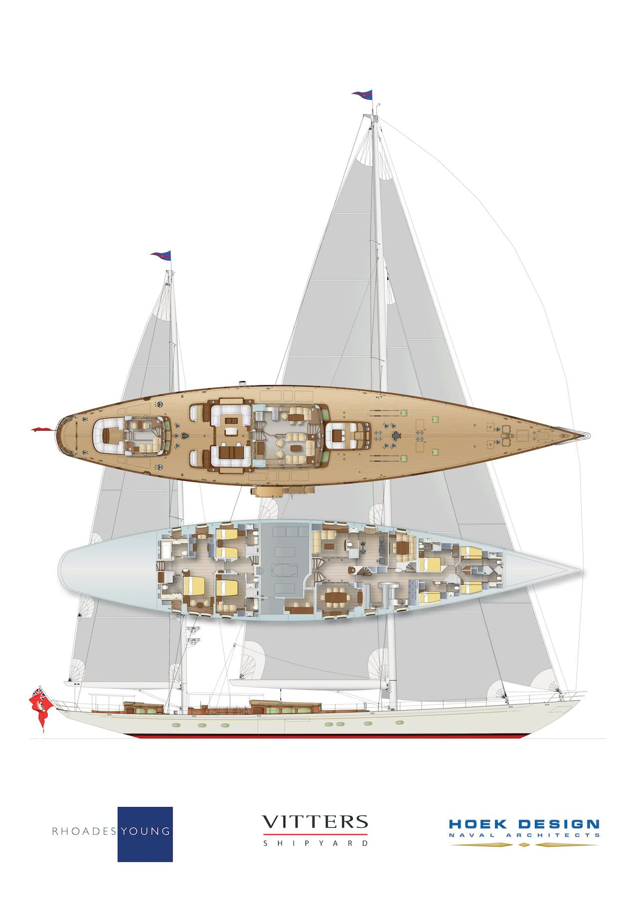 50m ketch-rigged Classic Sailing Yacht