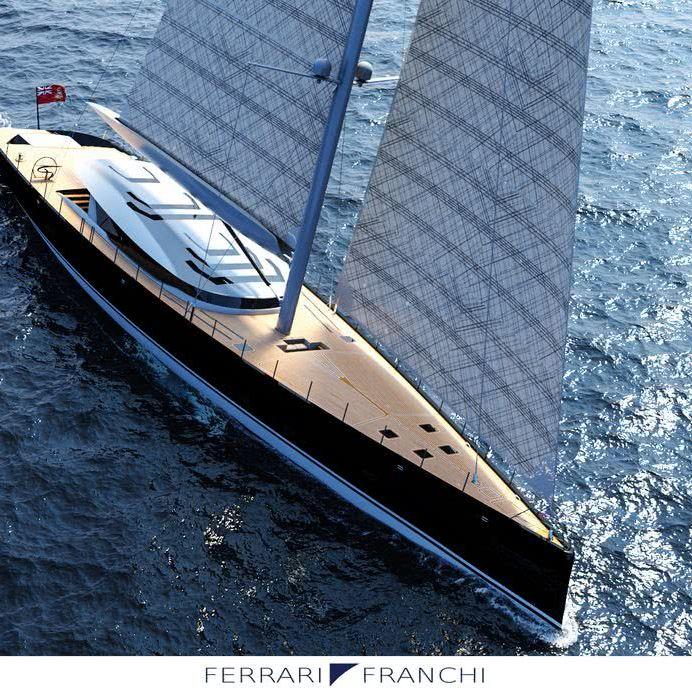 50m Sailing yacht Marco Ferrari Alberto Franchi