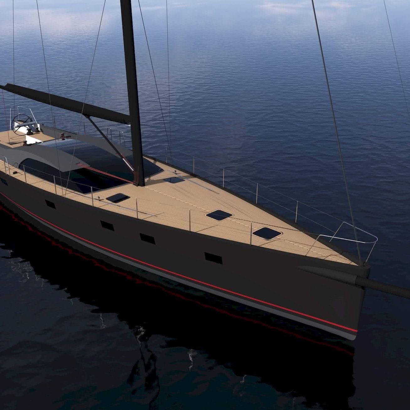 20m Sailing Yacht Marcelo Penna Yacht Design MP670S