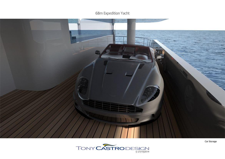 70m Explorer Yacht Tony Castro Car on Board