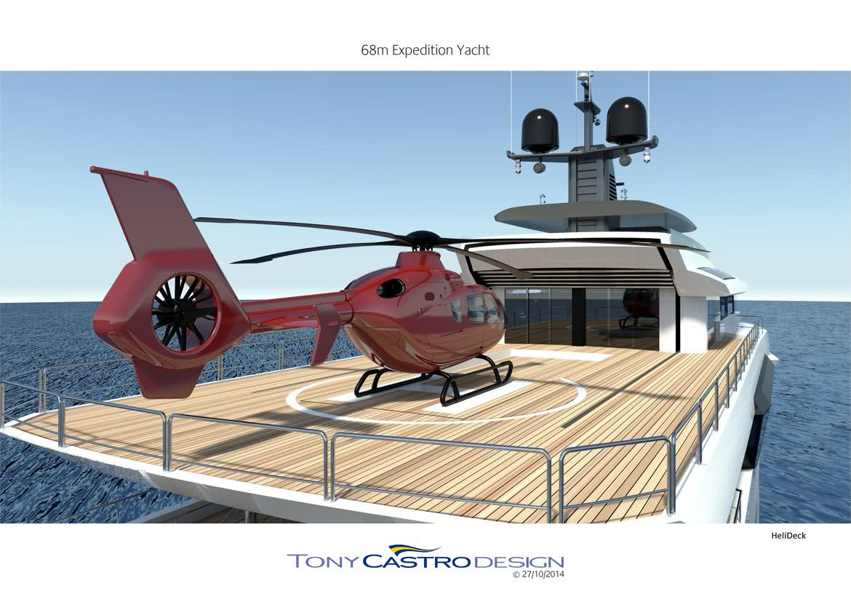 70m Explorer Yacht Tony Castro Helipad