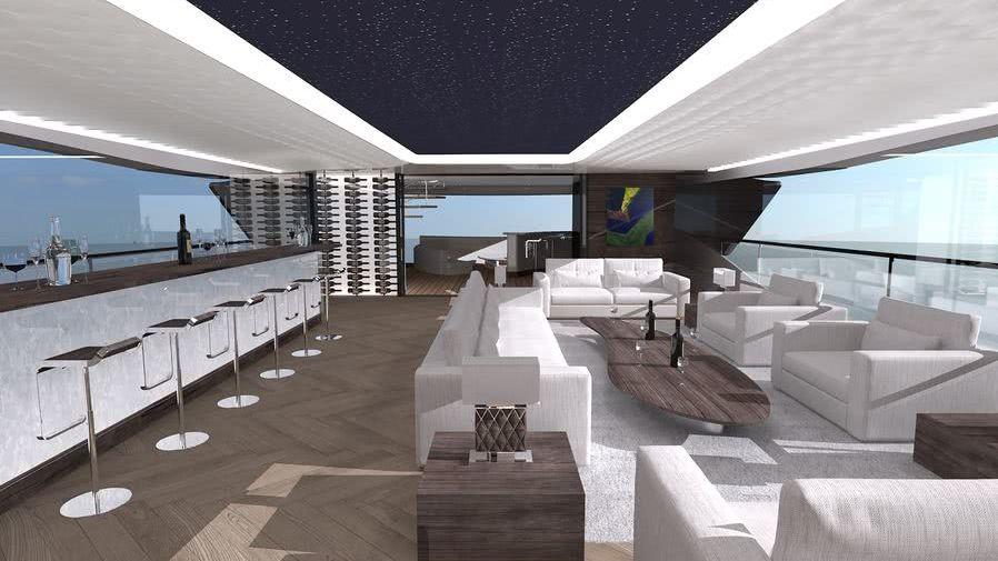 Fisker 50 Benetti Yachts Interior Design