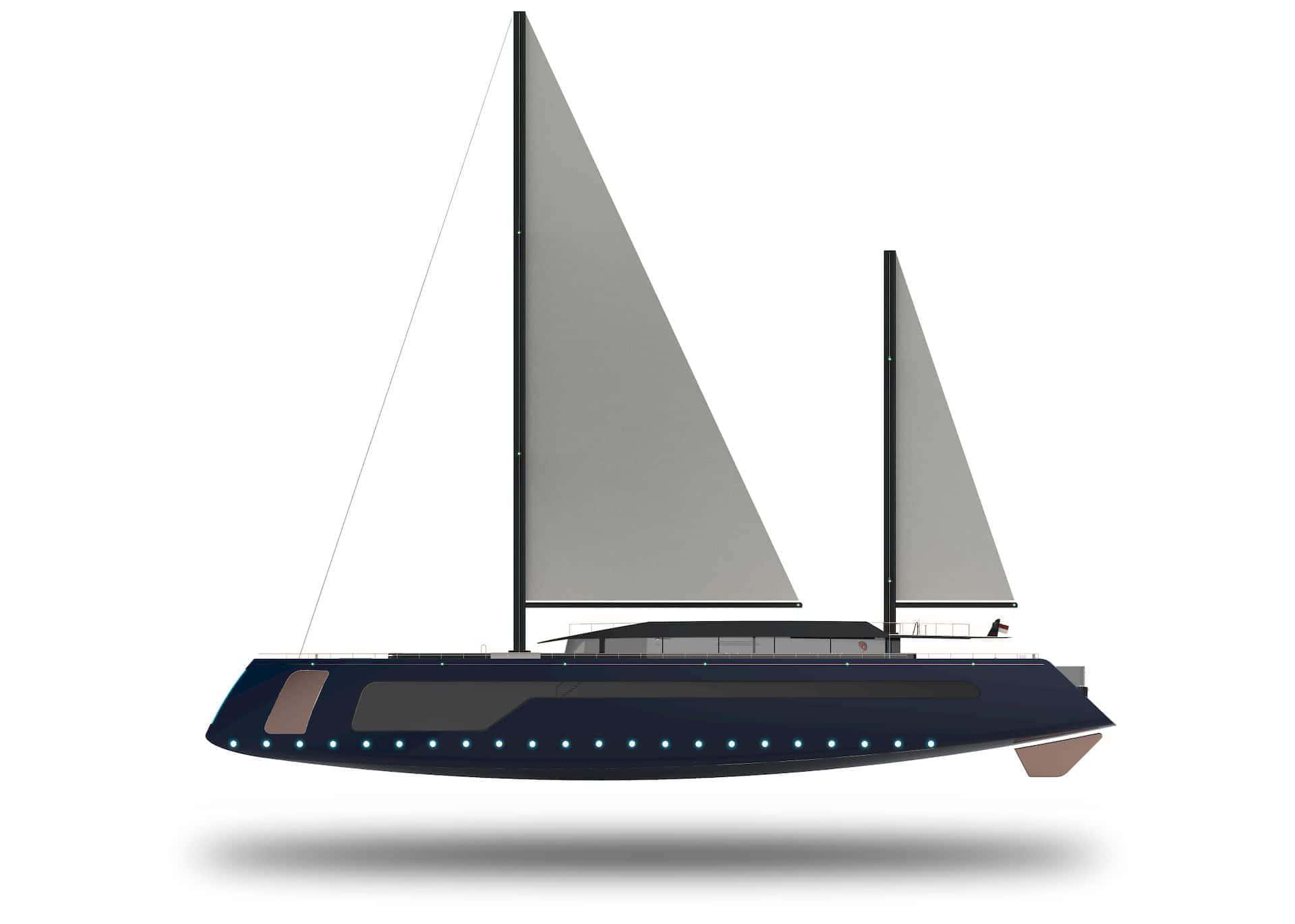 Longitudinalis Julien Cadro Sailing Yacht Concept