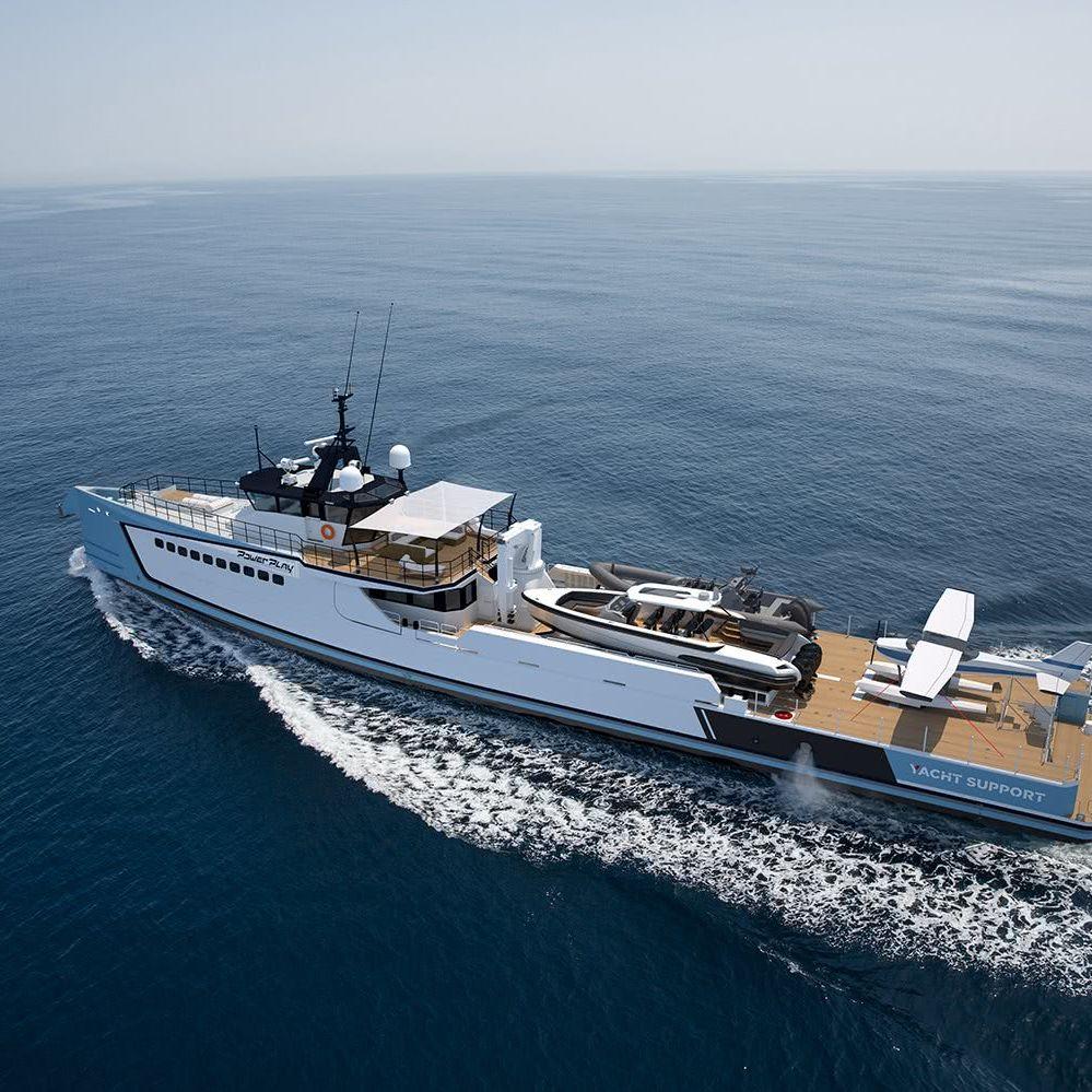 Power Play Damen Yacht Support Vessel