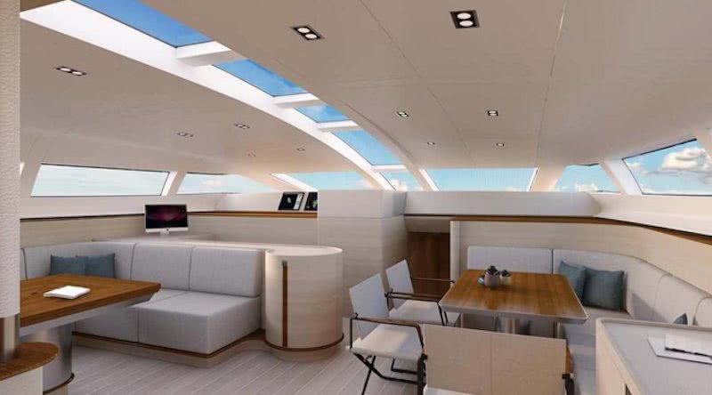 40m Sailing Yacht Philippe Briand Interior