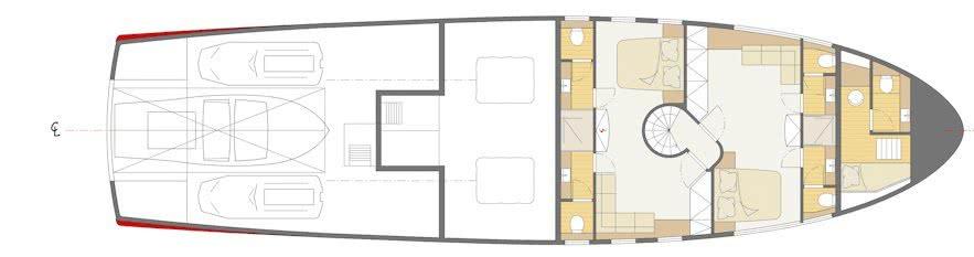 Private Beach Motor Yacht beiderbeck designs