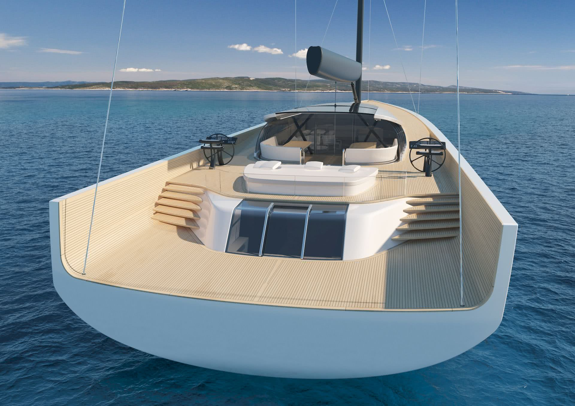 Self-Sustainable Sailing Yacht SY200 Philippe Briand