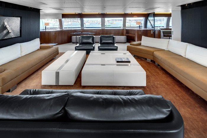 Vertigo Yacht Interior Alloy Yachts Christian Liaigre