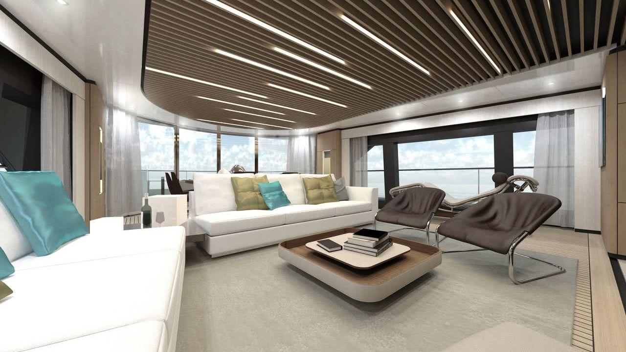 Motor Yacht WIDER 130 Interior Design