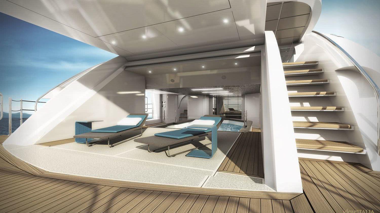 WIDER 165 Cecilia Hybrid Motor Yacht Interior