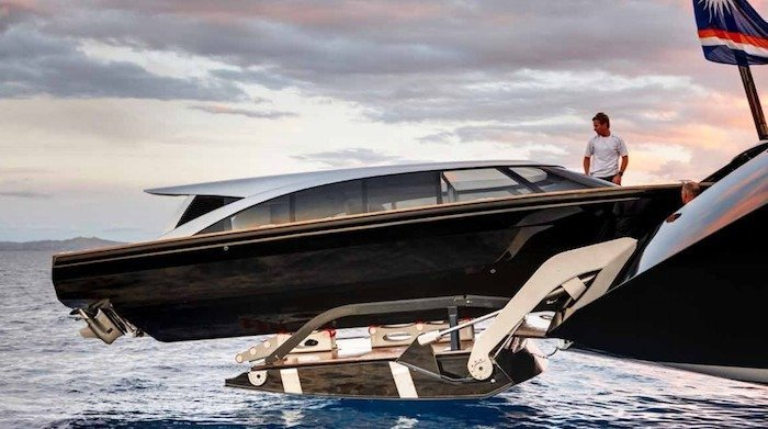 Vertigo Yacht Alloy Yachts Tender Garage