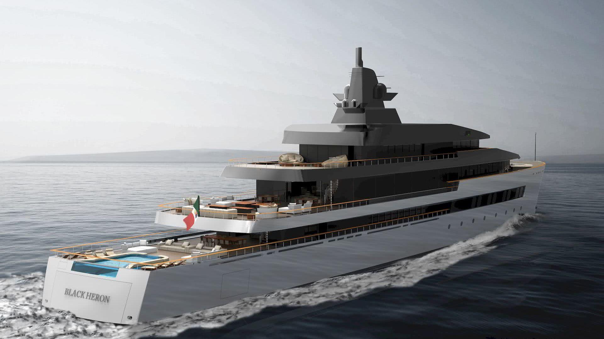 Black Heron Anna Borla Yacht Design