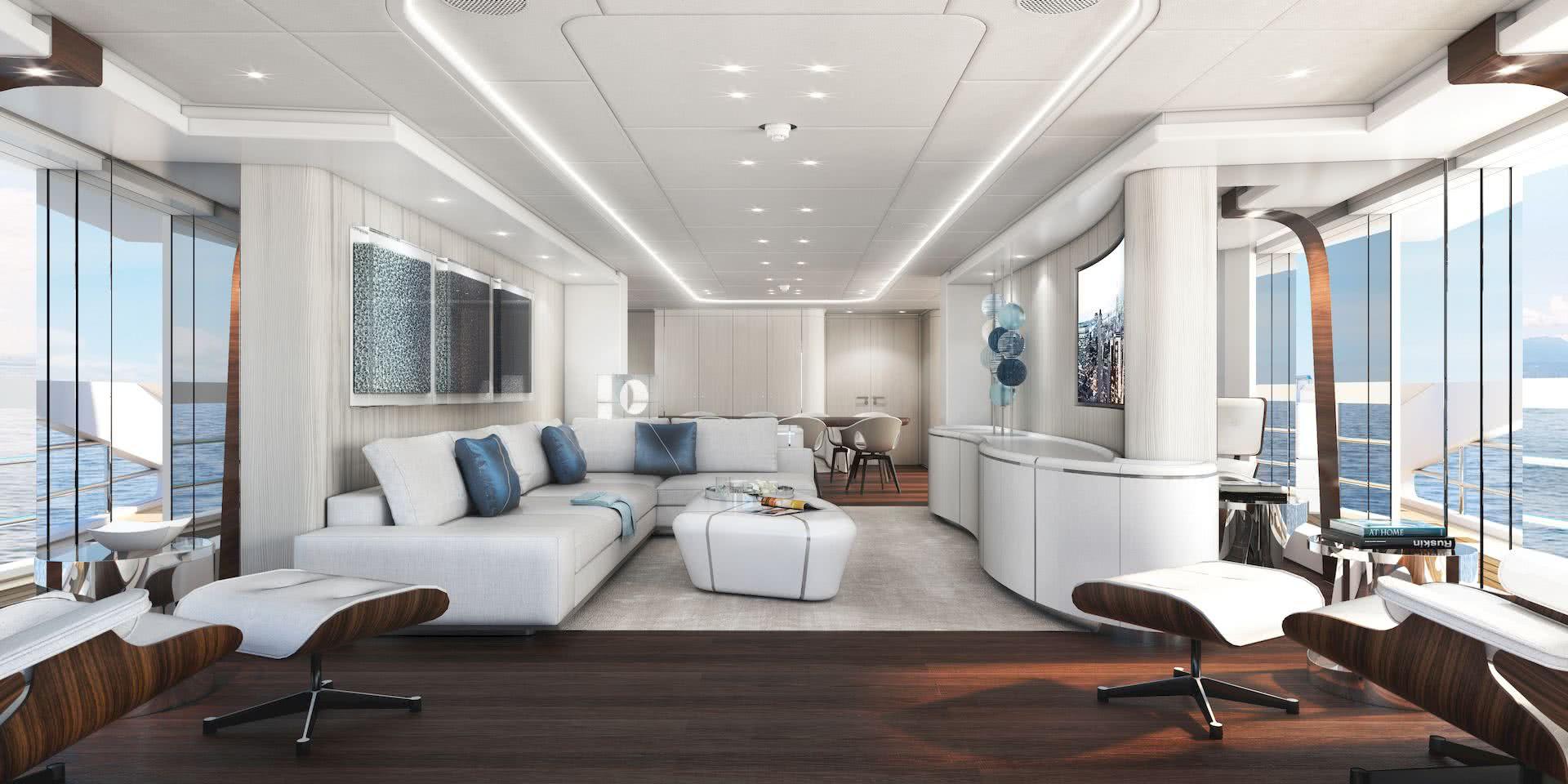 Amare II Hybrid Yacht Interior Design