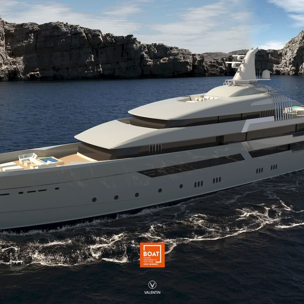 Hydrogen-powered Yacht Plato Valentin Weigand