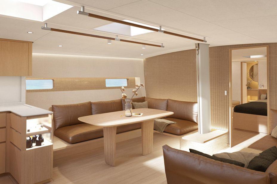 Baltic 68 cafe racer sailing yacht Interior