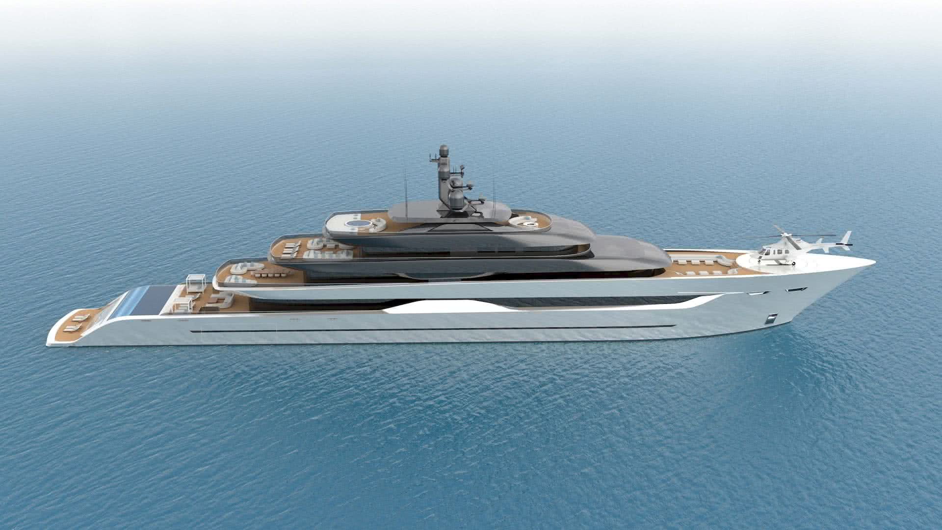 100m Yacht Design Optimus Hartform Design