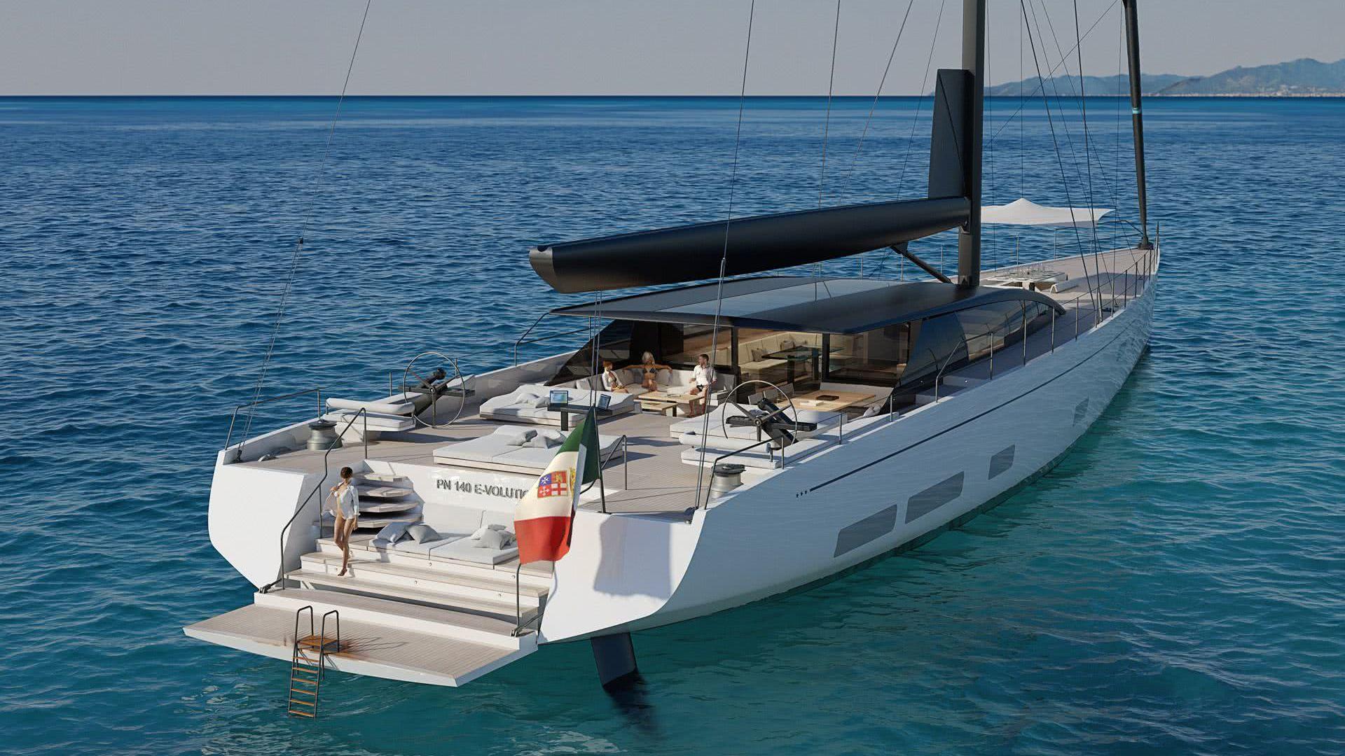Perini Navi 42m E-Volution GTS Sailing Yacht GCA Architects