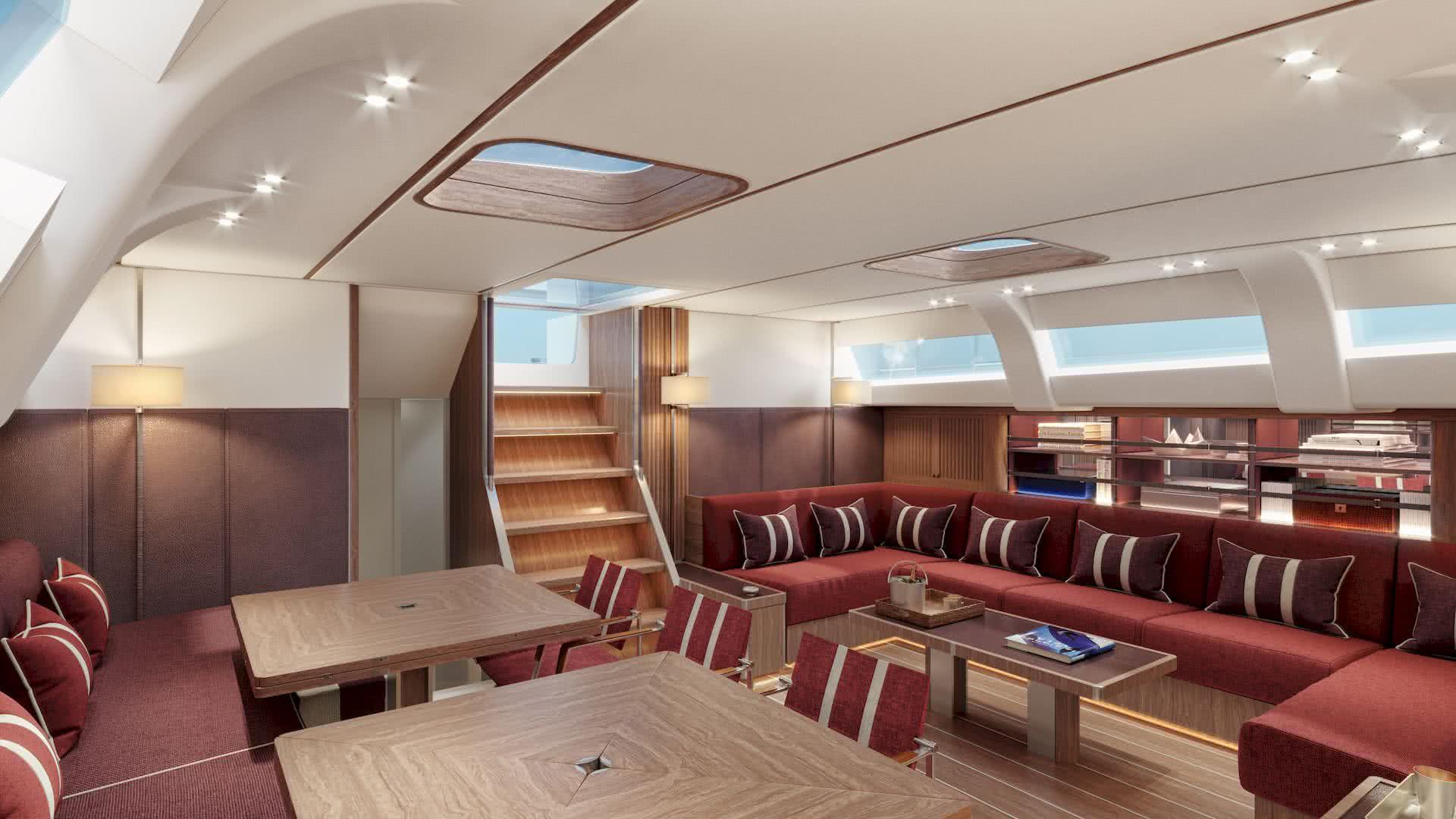 Swan 98 Yacht Interior Salon