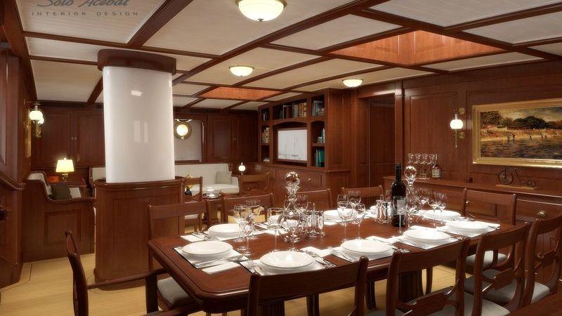 Dona Francisca Yacht Interior
