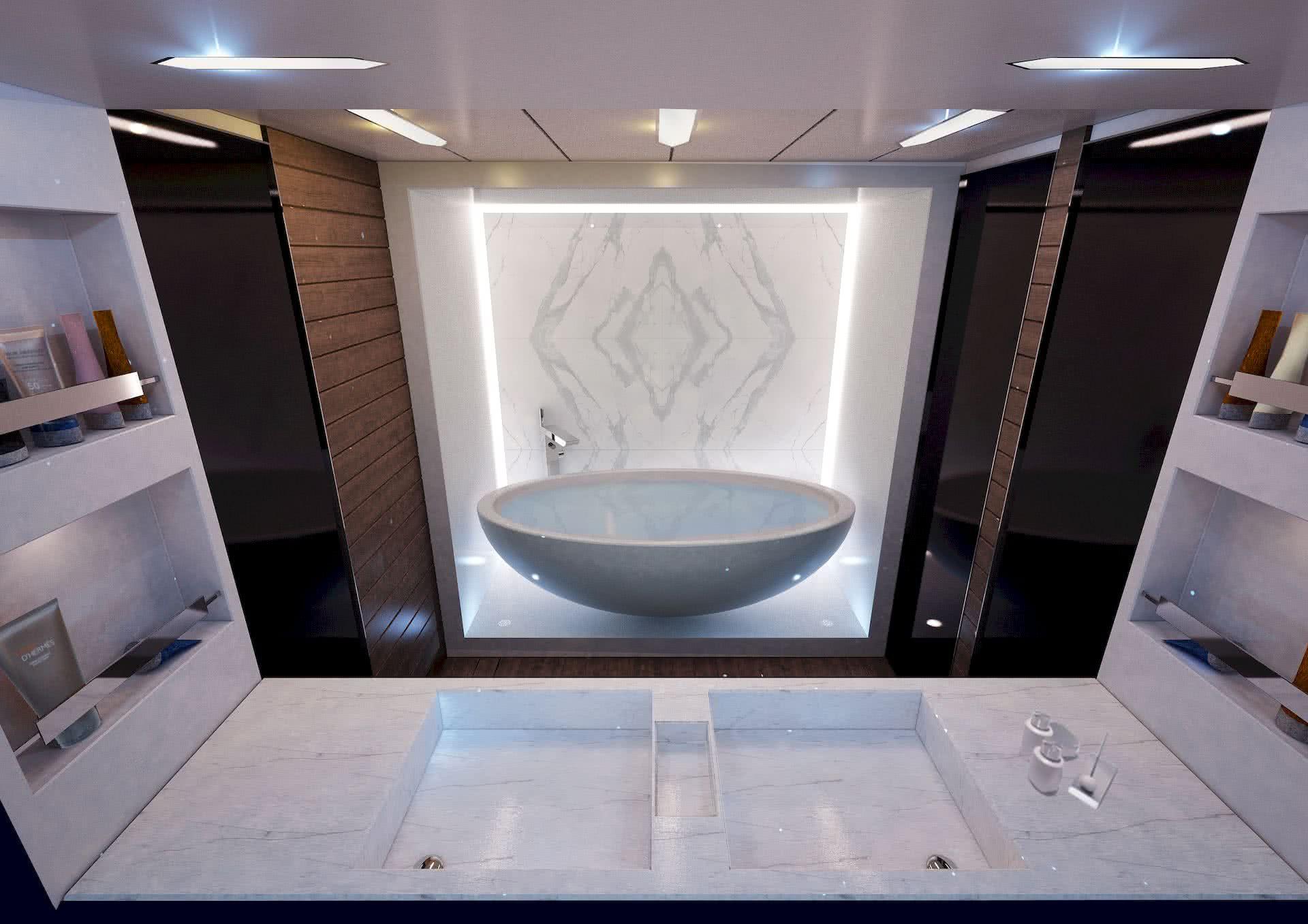 Canados 696 Motor Yacht Interior