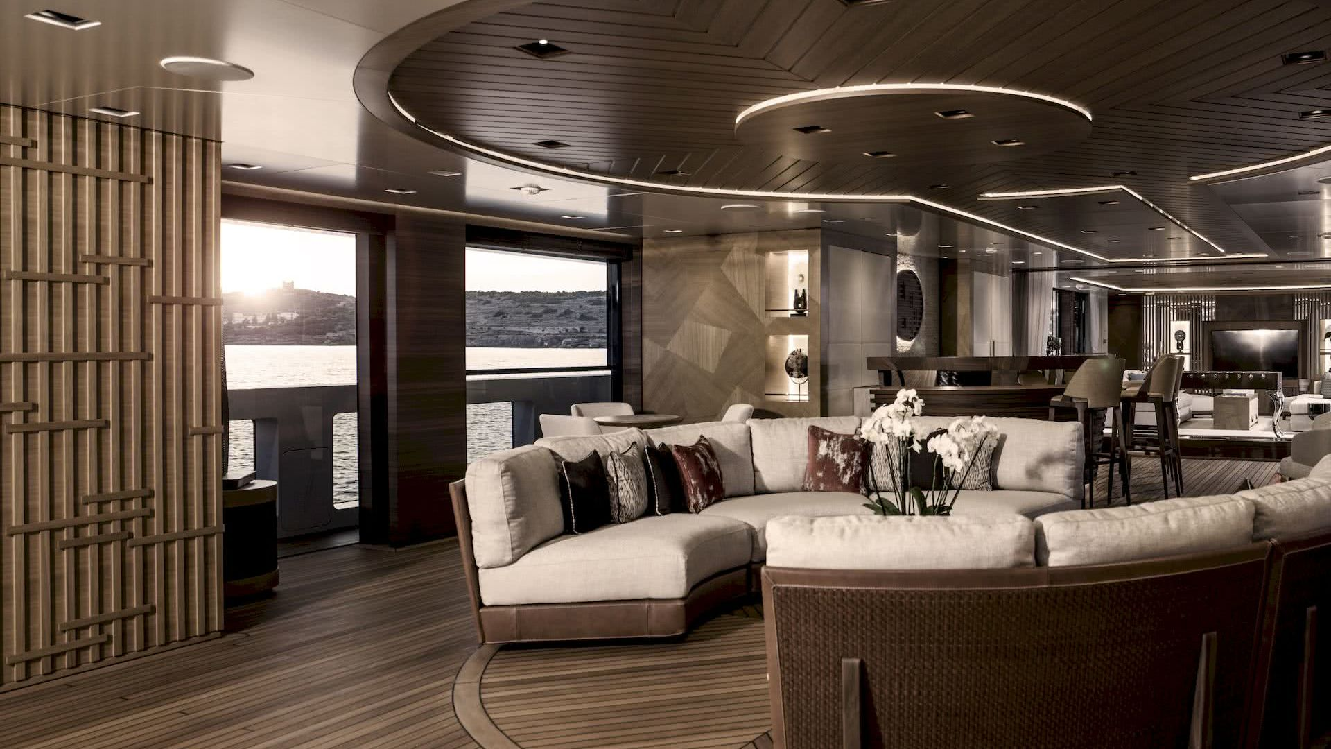 Life Saga Yacht Interior Salon