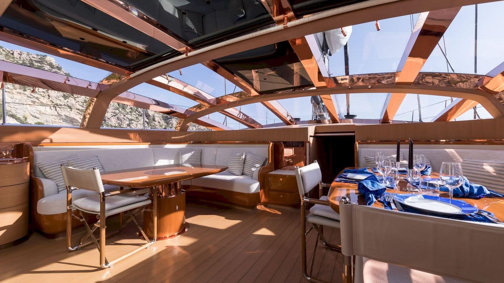 Ribelle Yacht Vitters Interior Deck Salon Remi Tessier