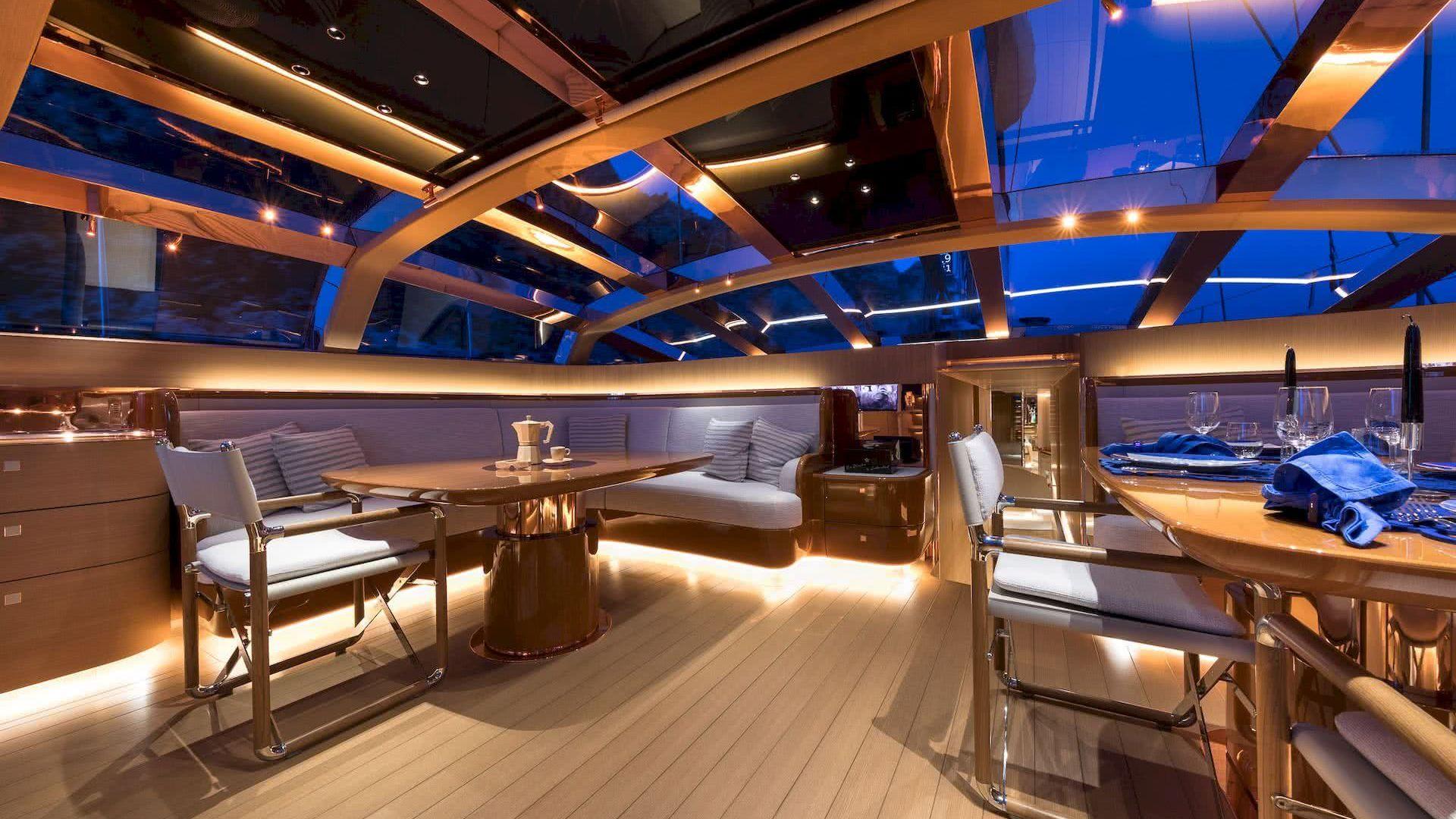 Ribelle Yacht Vitters Interior Wintergarden