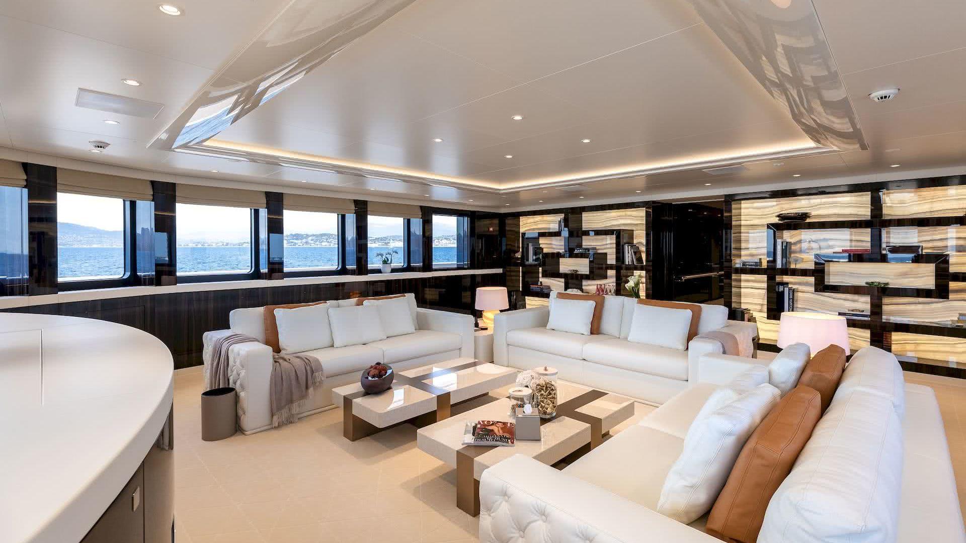 Soaring Yacht Interior Salon