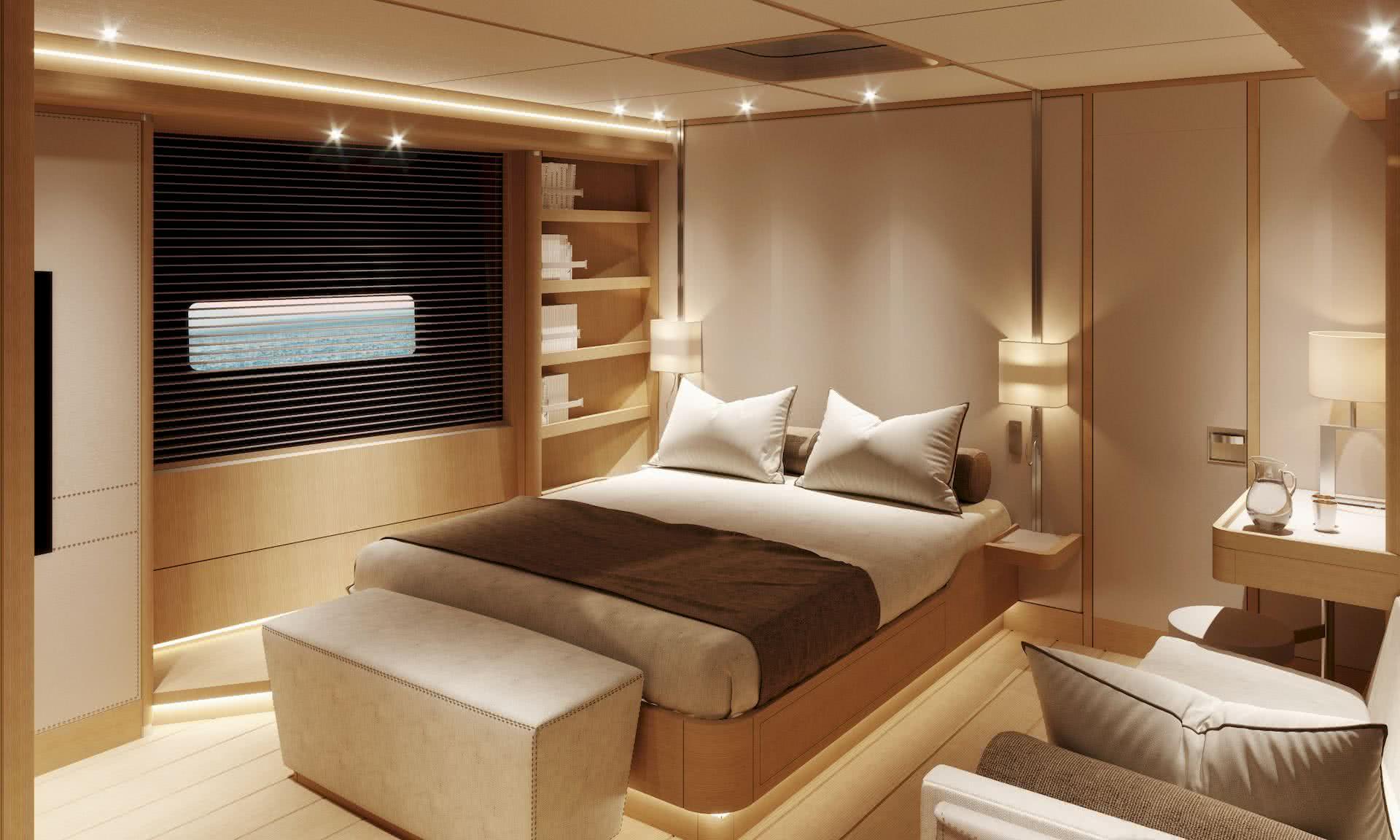 Swan 98 Yacht Interior Classic White