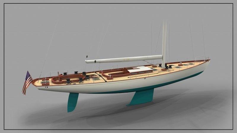 W 100 Classic Yacht Rockport Marine Yacht Design