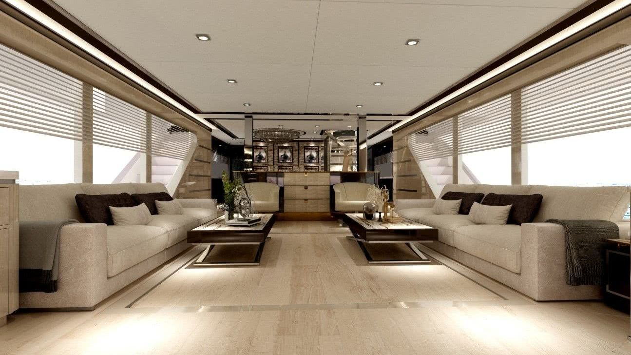 Bering 106 Motor Yacht Interior