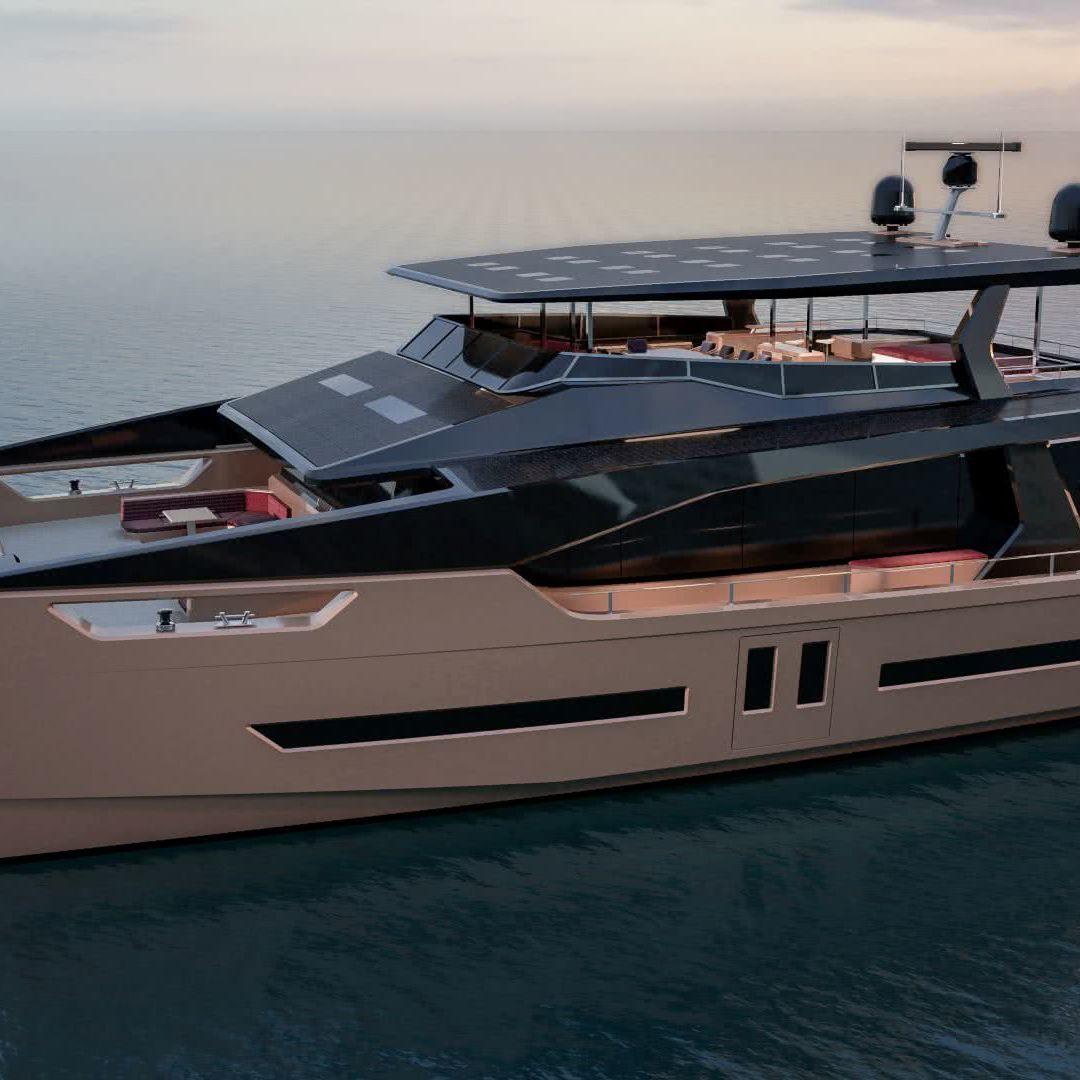 Full-Electric Yacht Ocean Eco 90 Alva Yachts HENNDESIGN