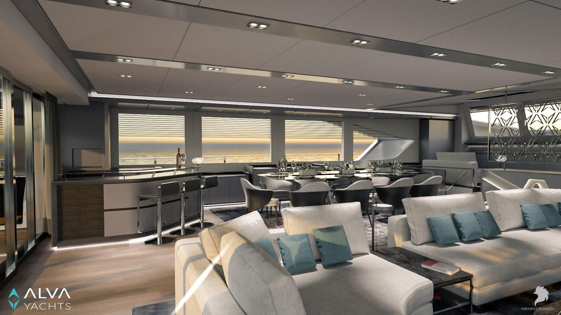 Ocean Eco 90 Electric Yacht Interior