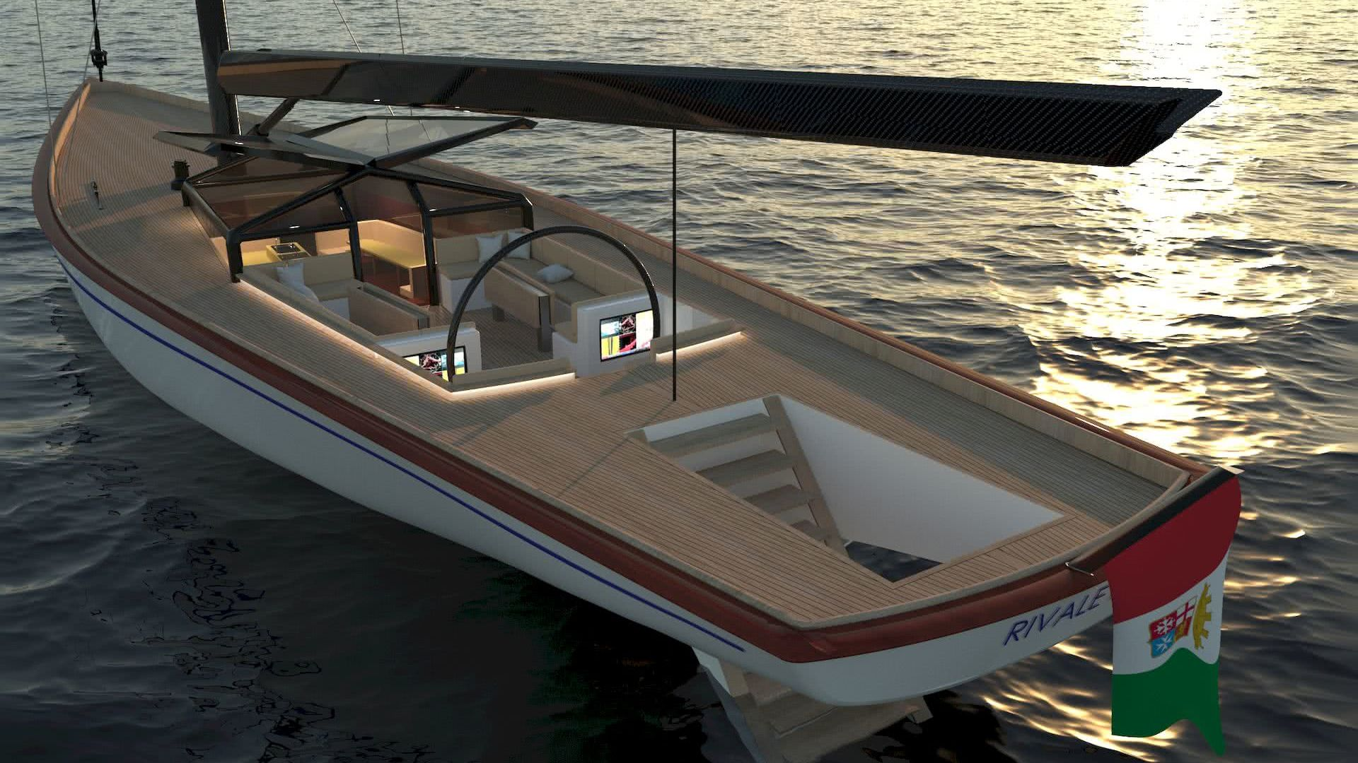 Modern Classic Sailing Yacht Valerio Rivellini