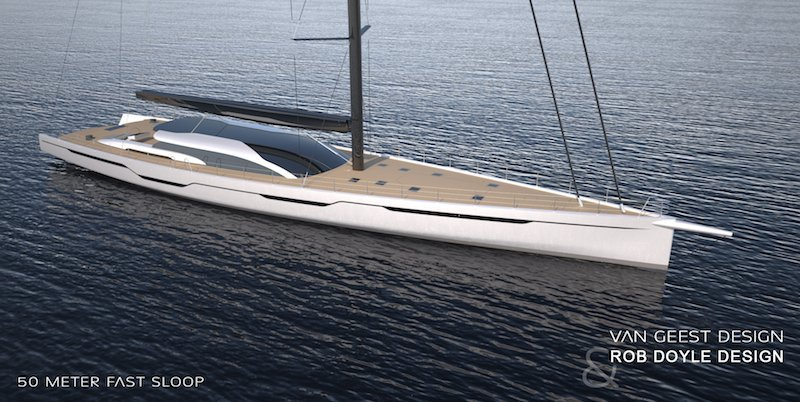 50m Sailing Yacht Concept Van Geest Design Rob Doyle