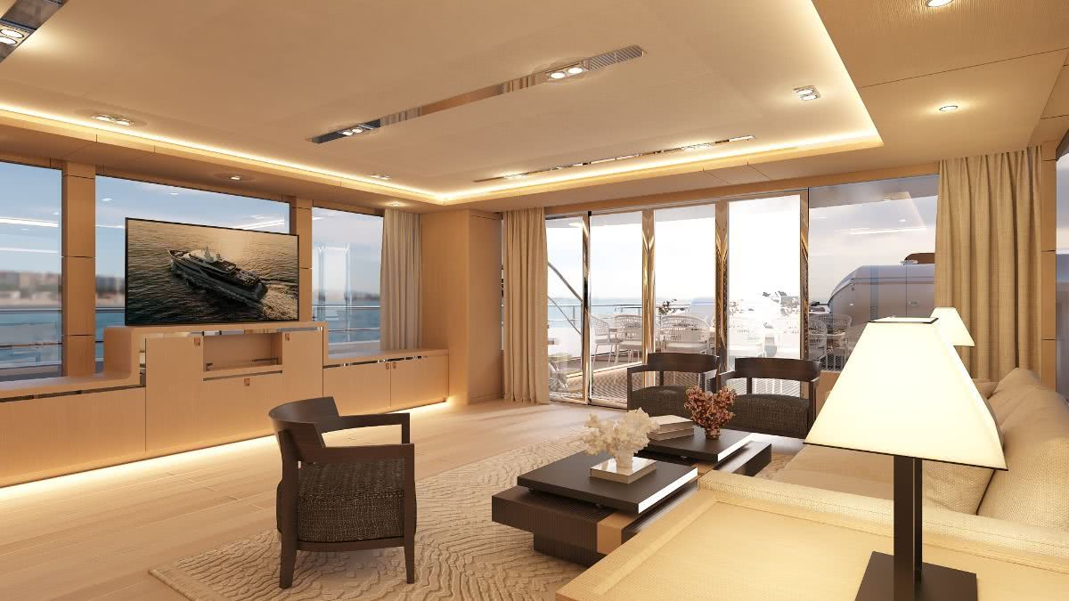 Bering 145 Motor Yacht Interiors