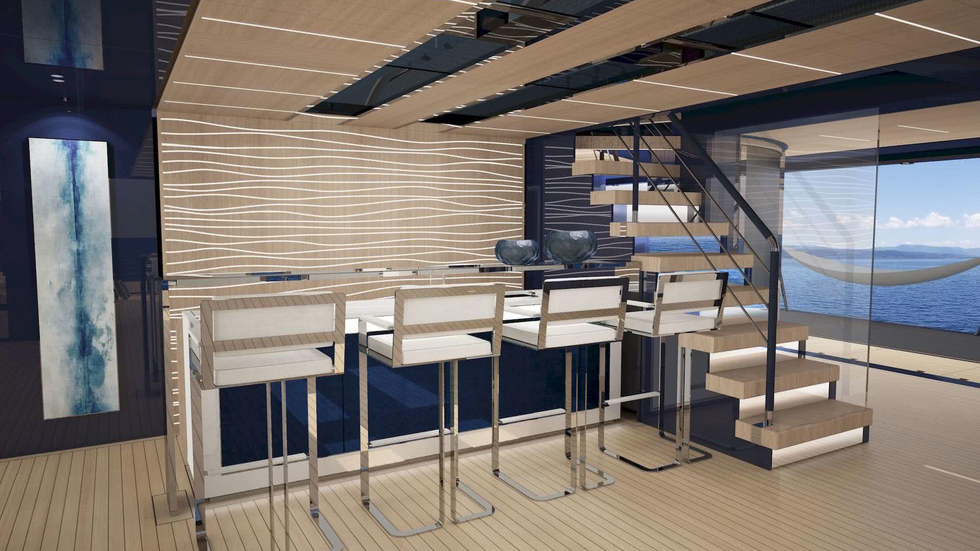 ISA Classic 65 meter Yacht Bar