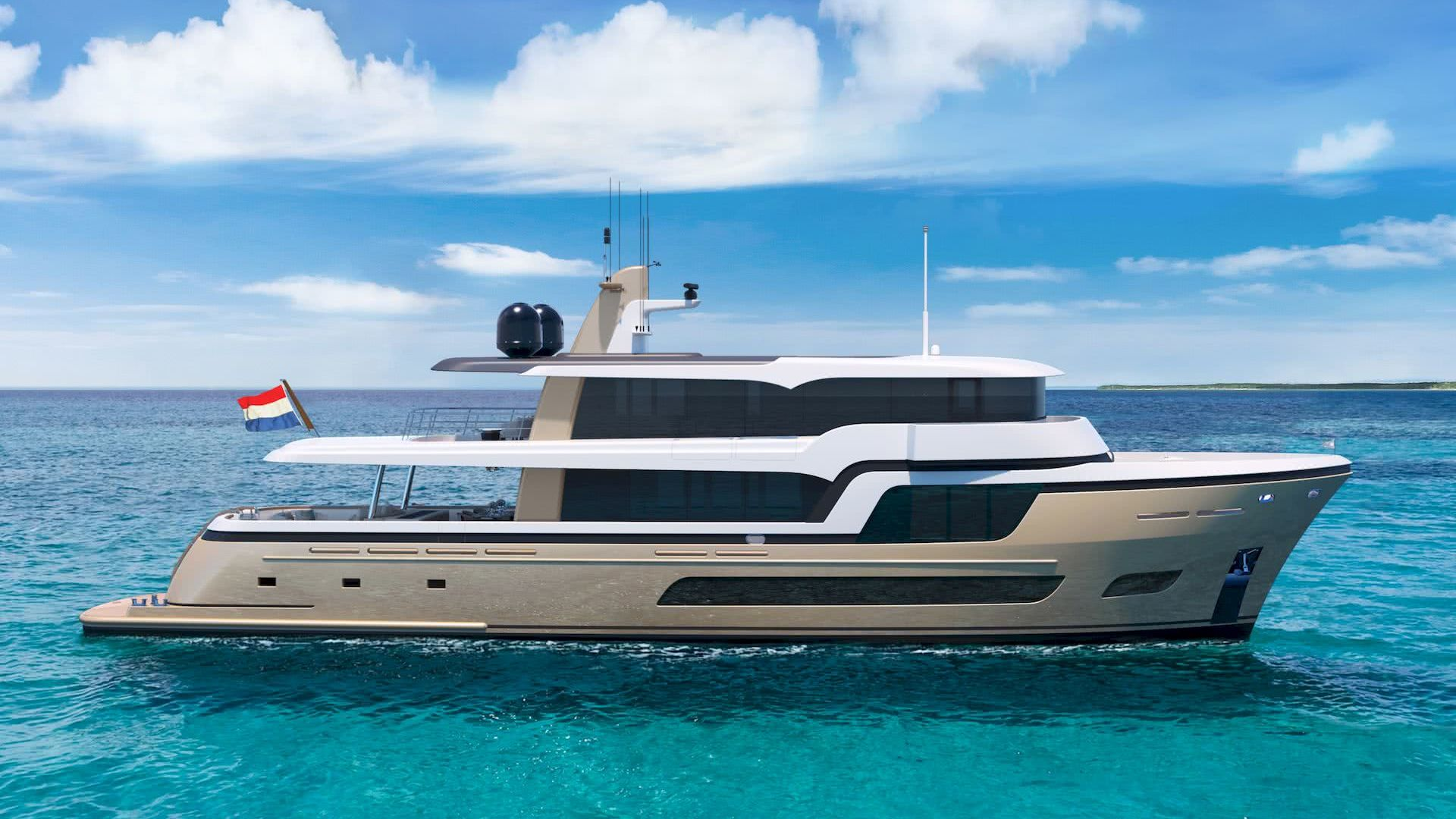 Lady Lene Yacht 34m Explorer Van der Valk Shipyard