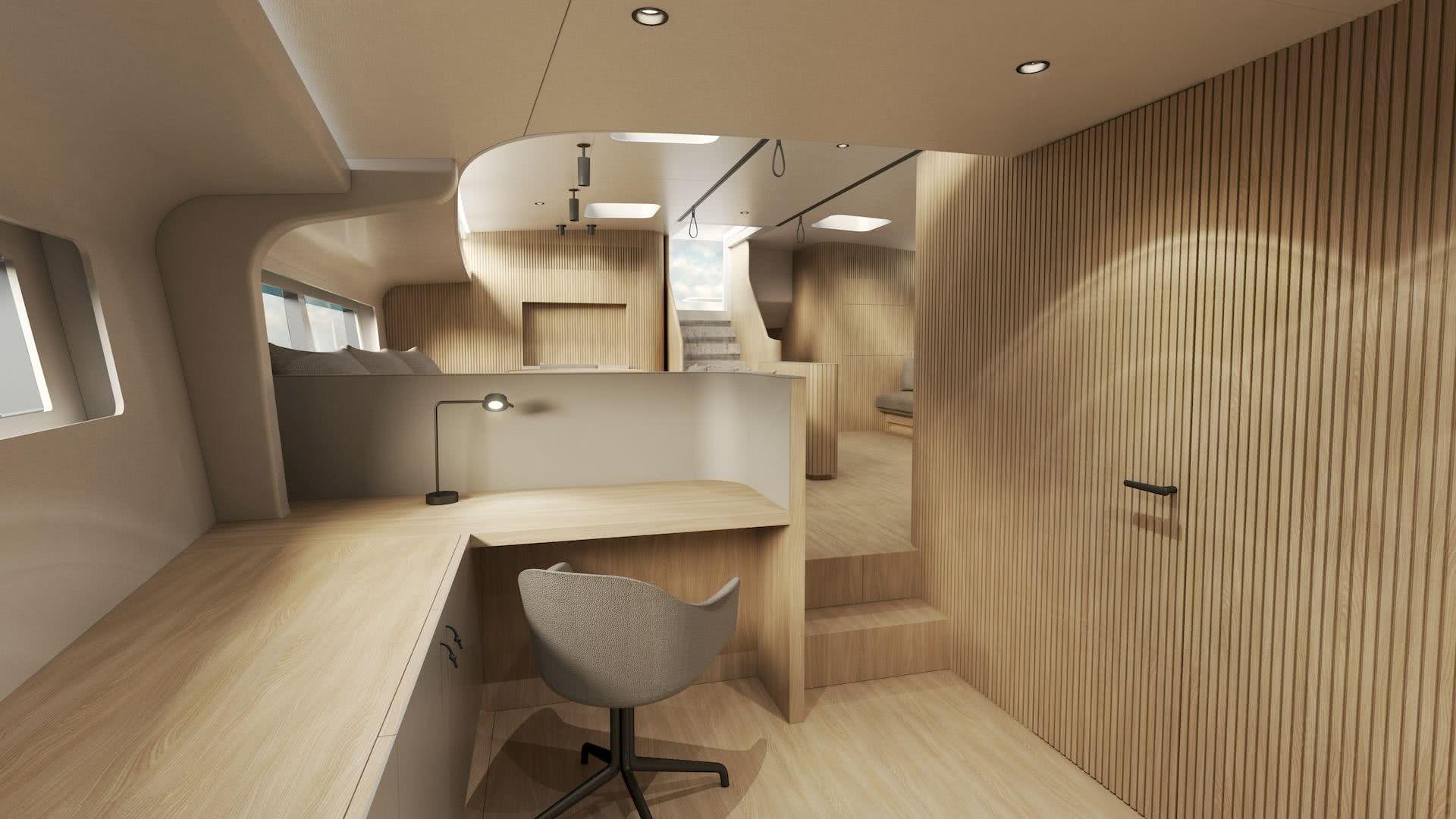 Y9 Sailing Yacht Interior Design