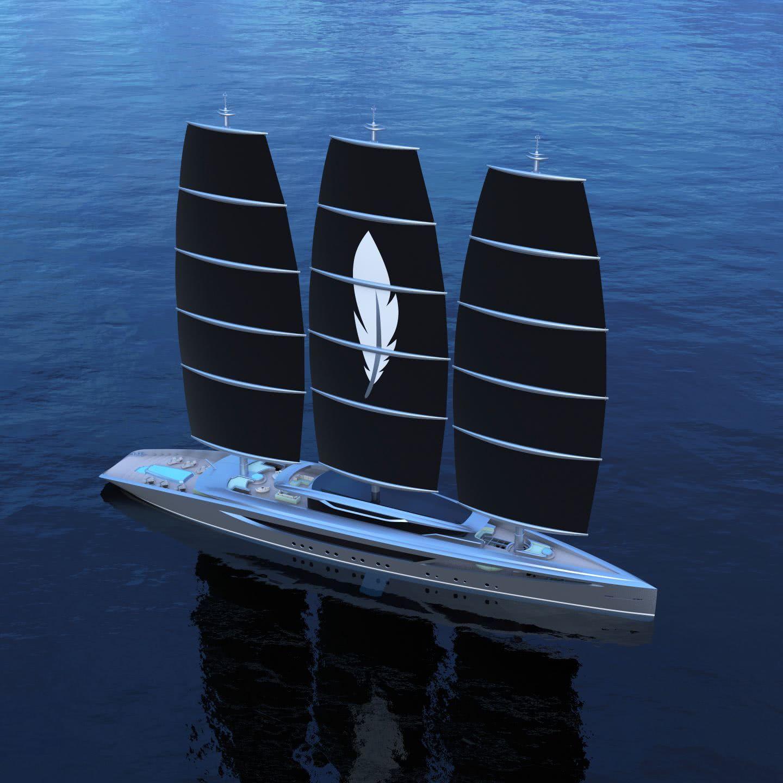 DynaRig Sailing Yacht Feather Onur Kiren
