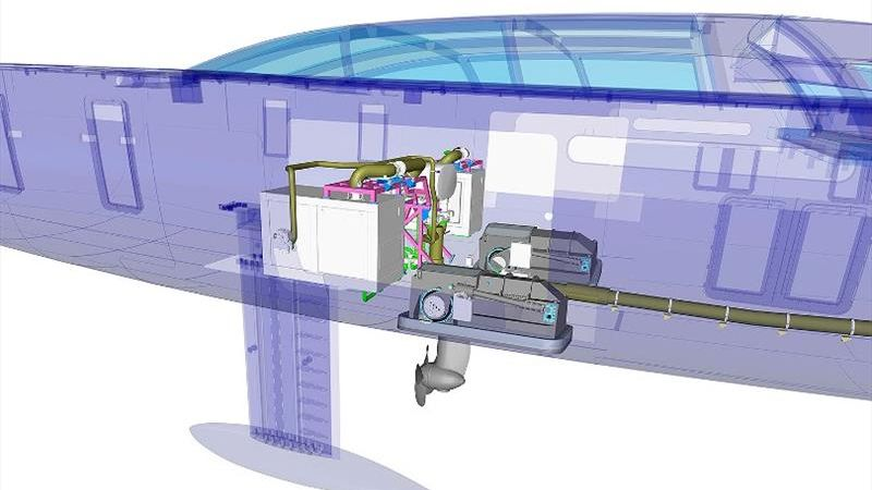 electric propulsion sailing yacht 404 Royal Huisman