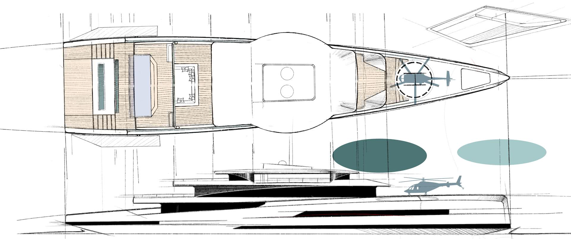 75m Hybrid Yacht Bravo Yacht Design Group